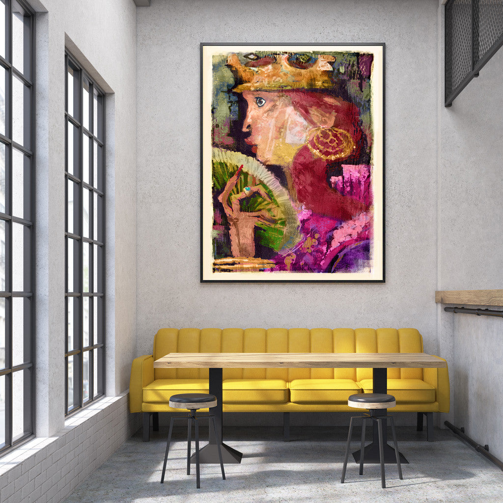 Queen Florabundant Fine Art Print - Luxurious Walls