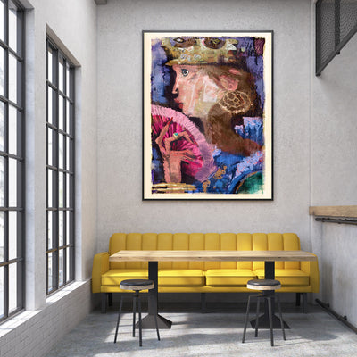Queen Original Fine Art Print - Luxurious Walls