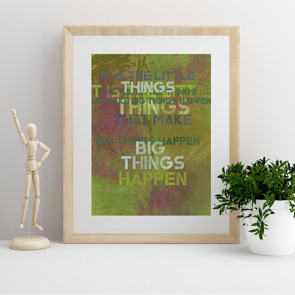 It's The Little Things Fine Art Print - Luxurious Walls