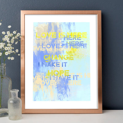 Love Is Here Fine Art Print - Luxurious Walls