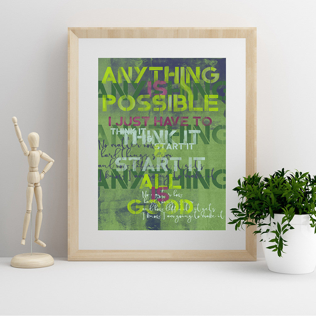 Anything Is Possible Fine Art Print - Luxurious Walls