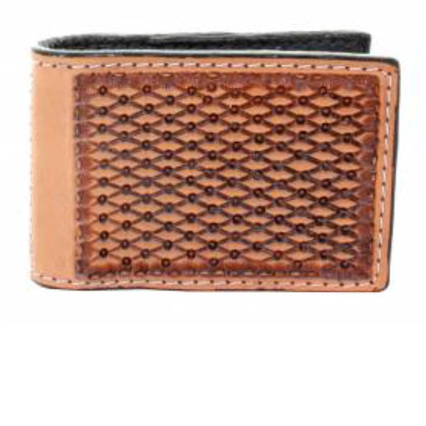Double J  Stamped Money Clip Wallet - Legendary Western