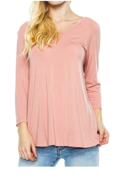 Dusty Rose Crossover Back Top - Legendary Western