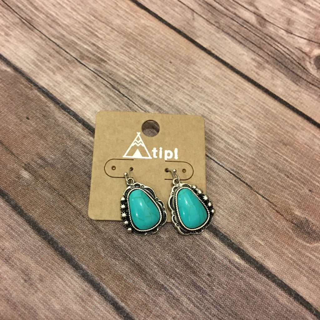 Turquoise Drop Earrings - Legendary Western