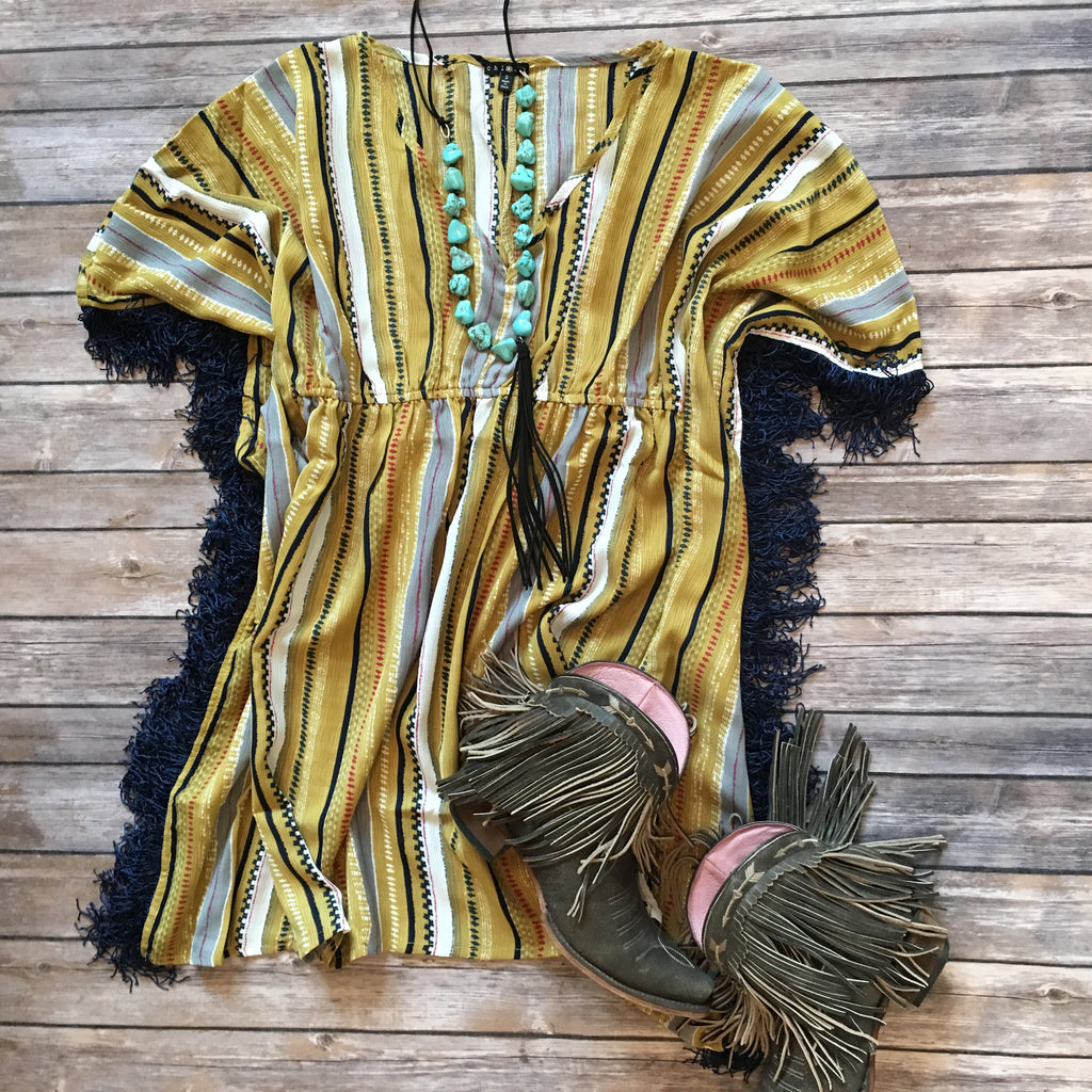 The Fringe It Striped Top - Legendary Western
