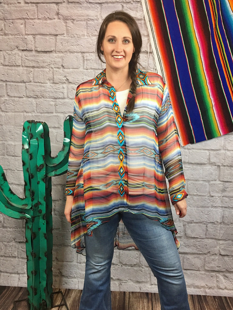 The Sunshine Hi-lo Tunic by Vintage Collection - Legendary Western
