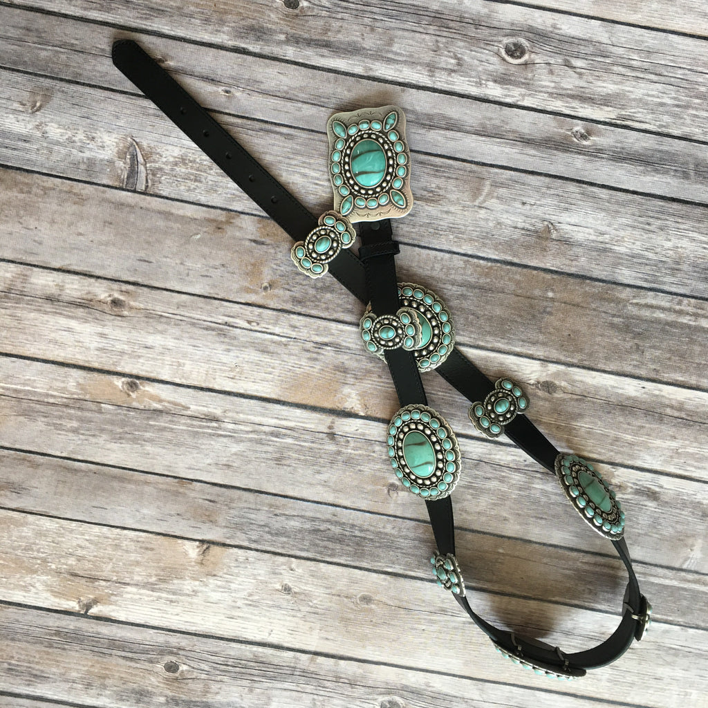 Turquoise Angel Concho Belt - Legendary Western