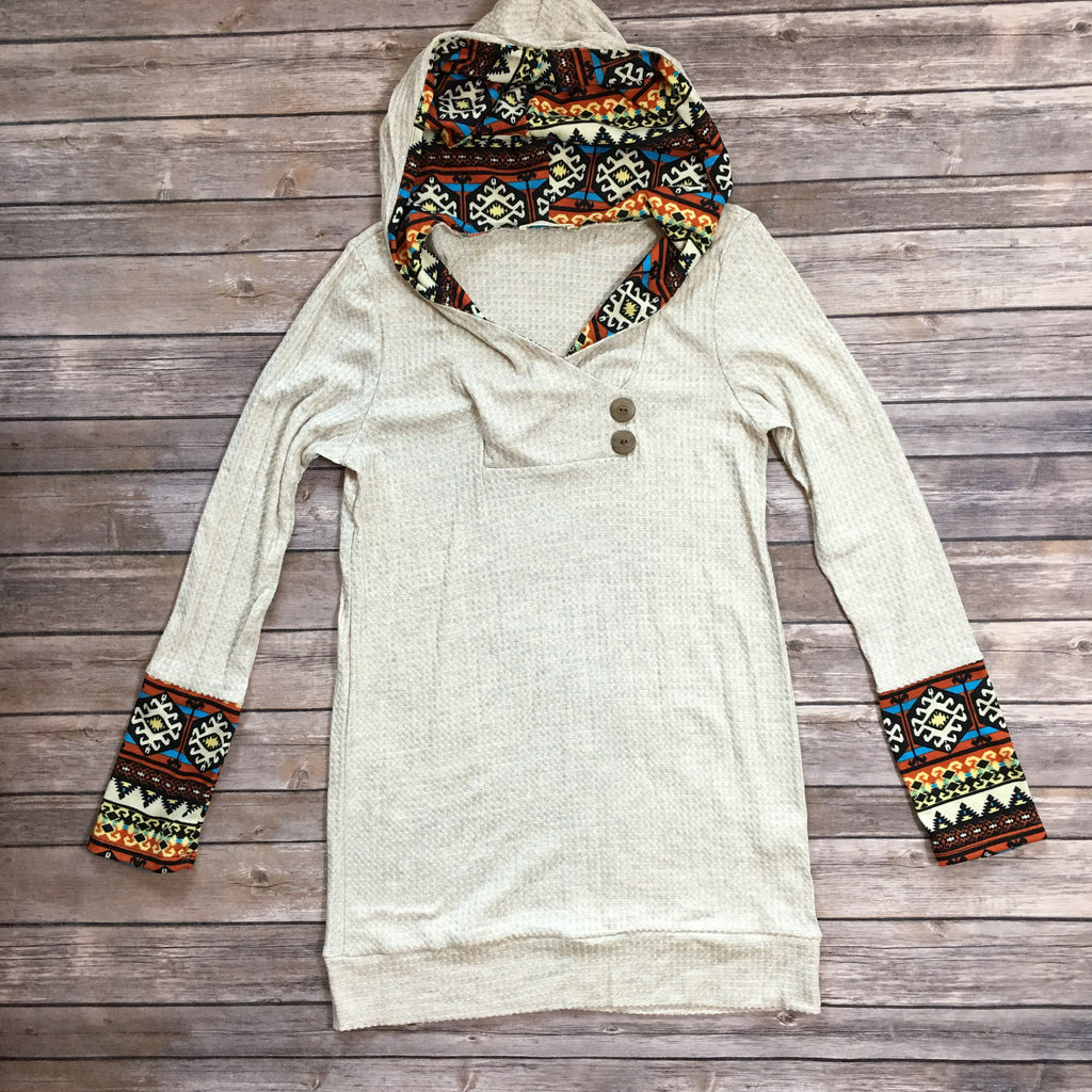 The Cozy Aztec  Hoodie - Legendary Western