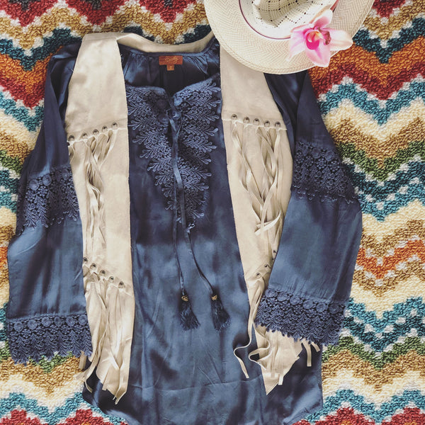 The Blue Sky Crochet Tunic