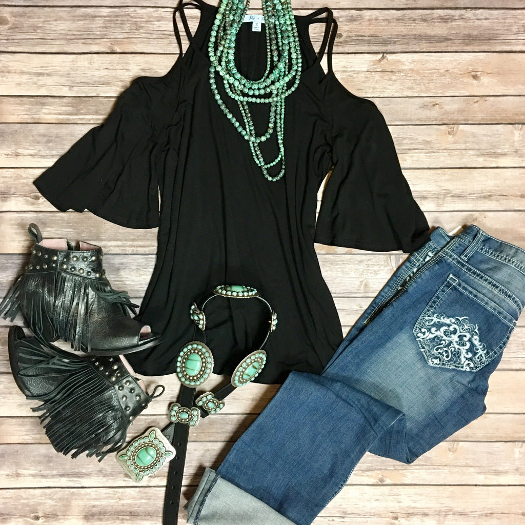 Tessa Cold Shoulder Top - Legendary Western