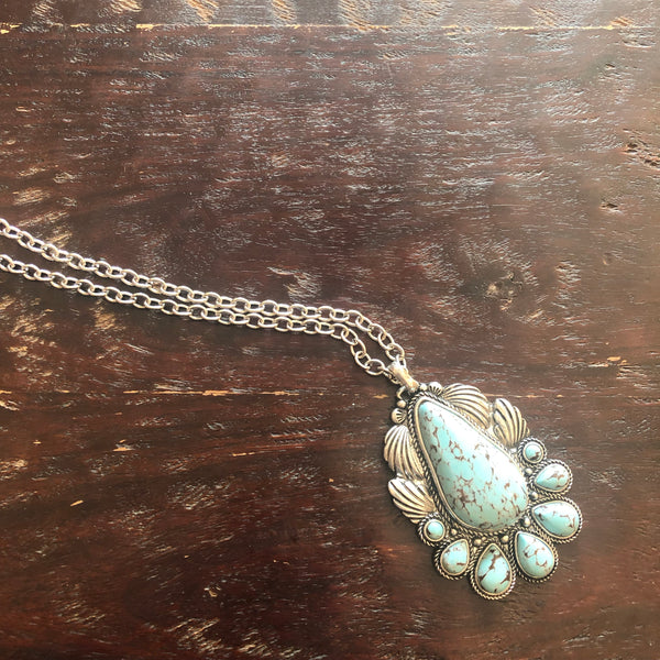 The Raindrop Turquoise Pendant