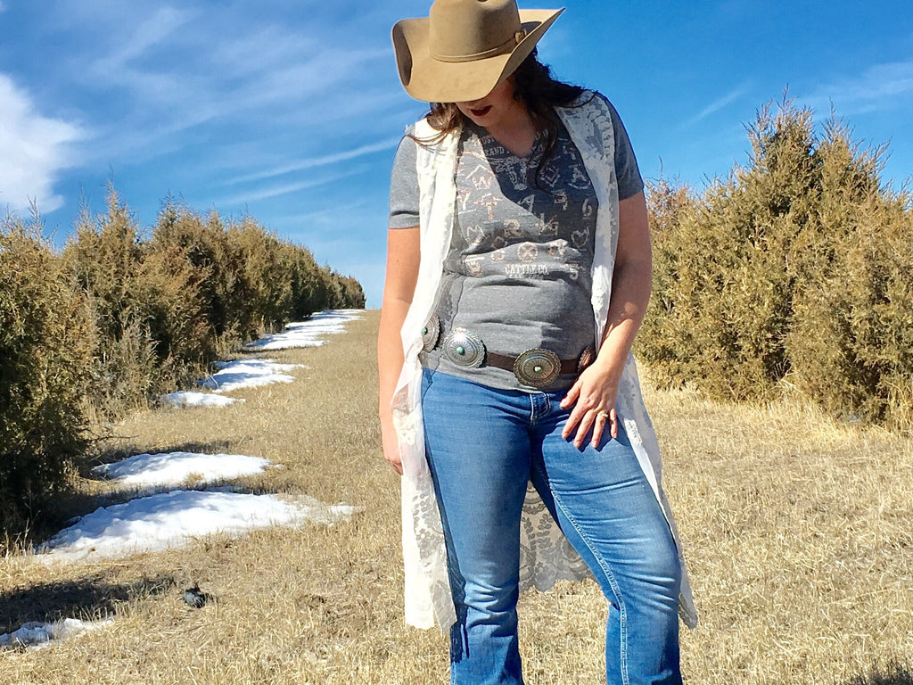 The Emma Lace Vest - Legendary Western