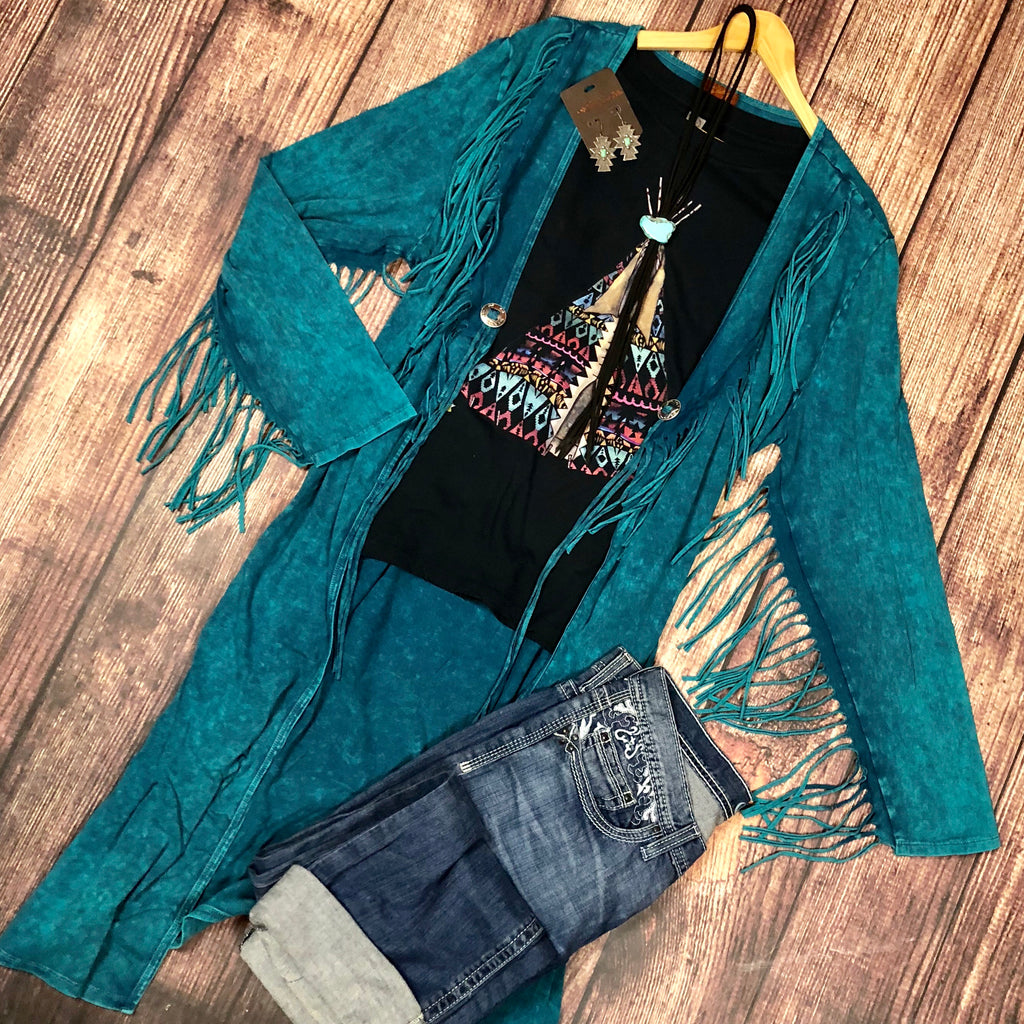 The Turquoise Concho Duster from Scully