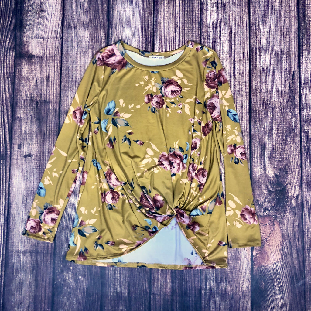 The Mustard Floral Top