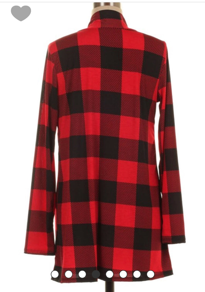 The Buffalo Plaid Cardi