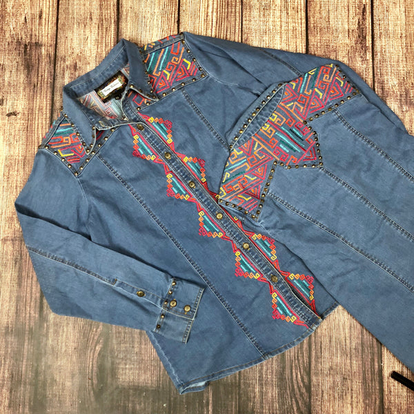 The Hailey Denim Shirt by Vintage Collection