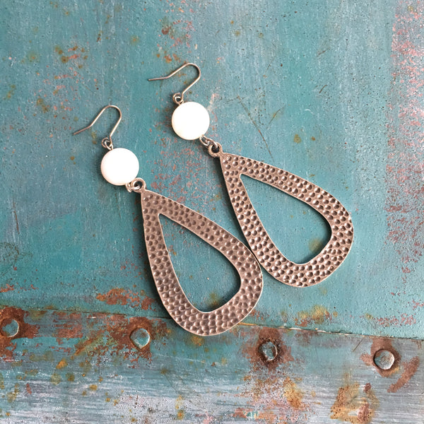 Hammered Drop Earrings - Legendary Western