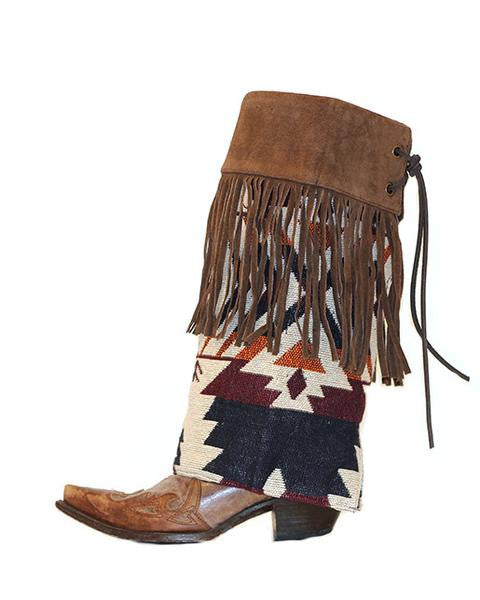 Geronimo Fringe Boot Rugs - Legendary Western