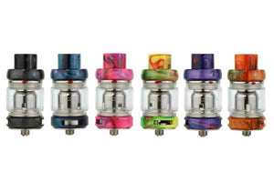 Freemax Fireluke Mesh Pro Sub-Ohm Tank - 6 different colored tanks set in a row horizontally.