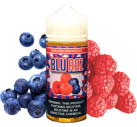Iron Crow - Blue Razz - 100ML Vape Juice - Blueberry Raspberry