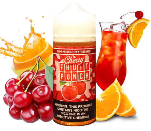 Iron Crow - Cherry Fruit Punch - 100ML Vape Juice - Cherry Citrus Fruit Punch