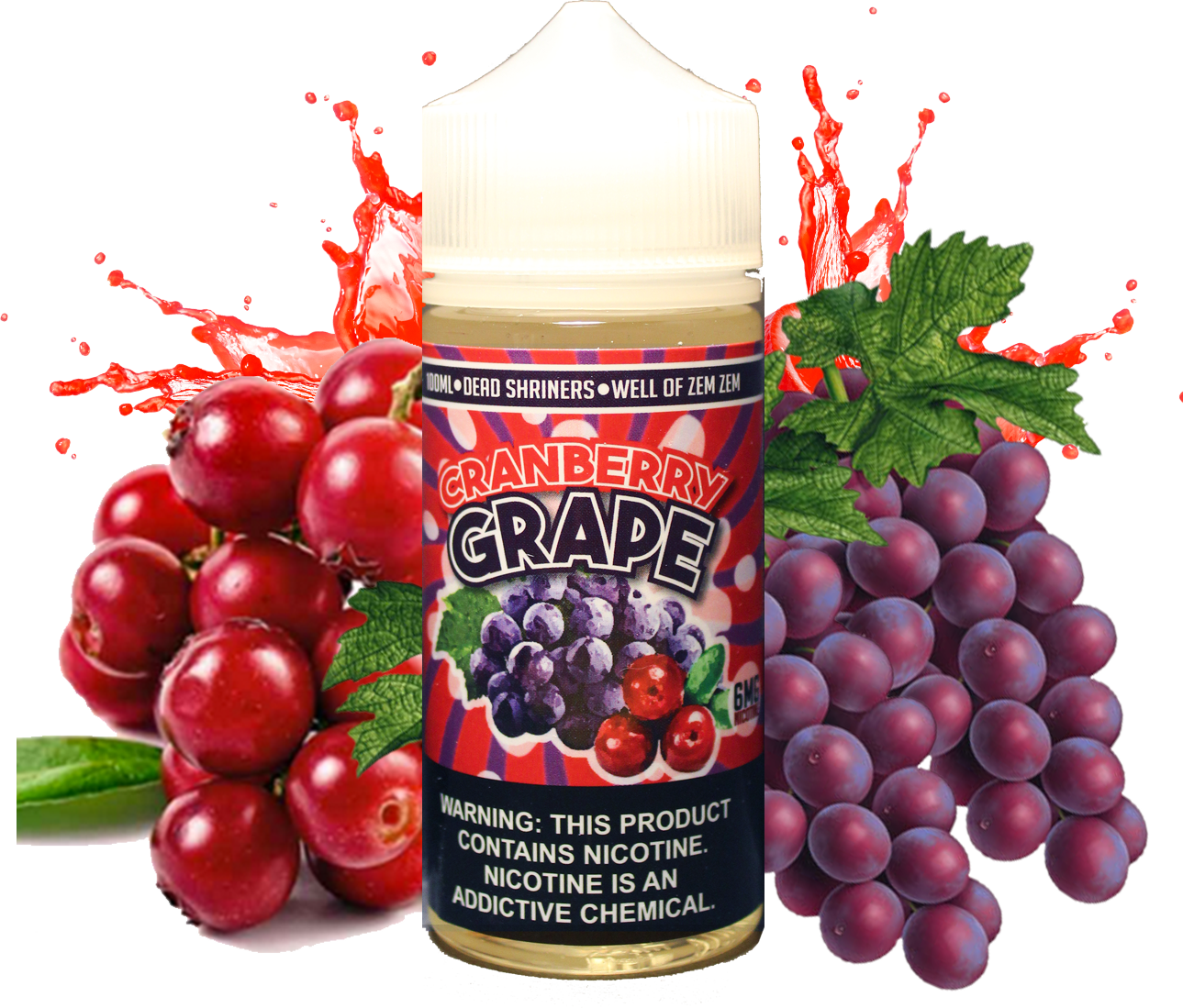 Iron Crow - Cranberry Grape - 100ML Vape Juice - Grape Cranberry Plastic Bottle
