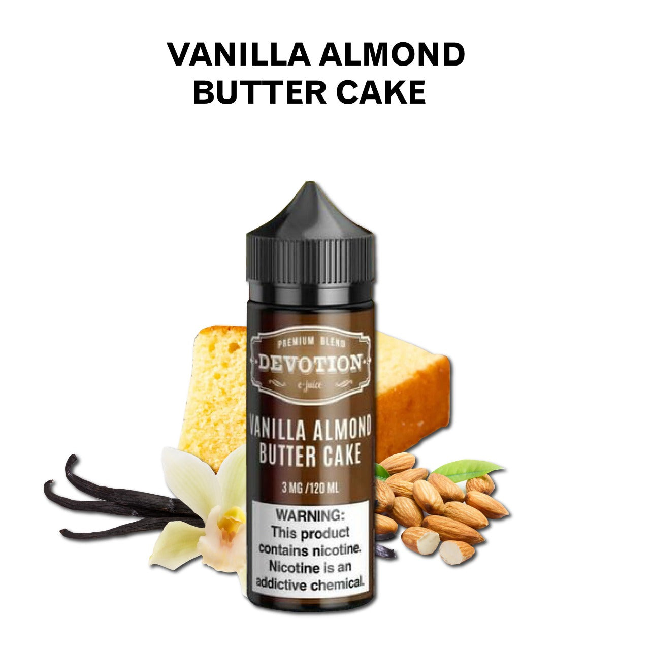 Devotion - Vanilla Almond Butter Cake - 120ML Vape Juice