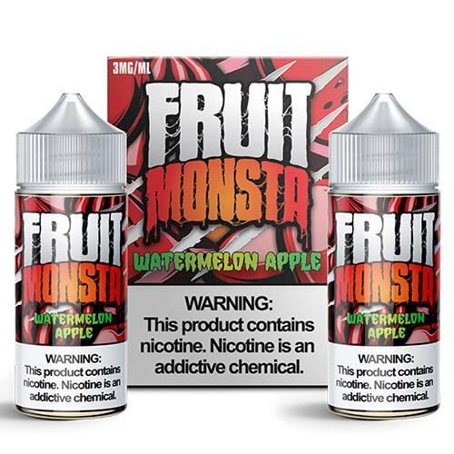 Fruit Monsta - Watermelon Apple - 2 x 100ML Vape Juice - Cloud City Vapes NC