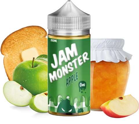 Jam Monster - Apple - 100ML Vape Juice - Apple Jam Butter Toast