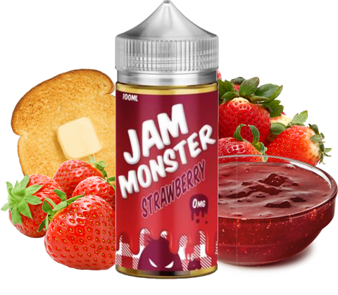 Jam Monster - Strawberry - 100ML Vape Juice - Strawberry Jam Butter Toast