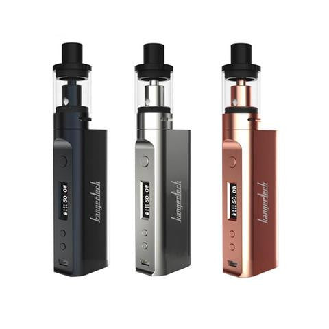 Kanger Subox Mini-C Vape Kit, 3 lined up in gold, silver, and gun metal.