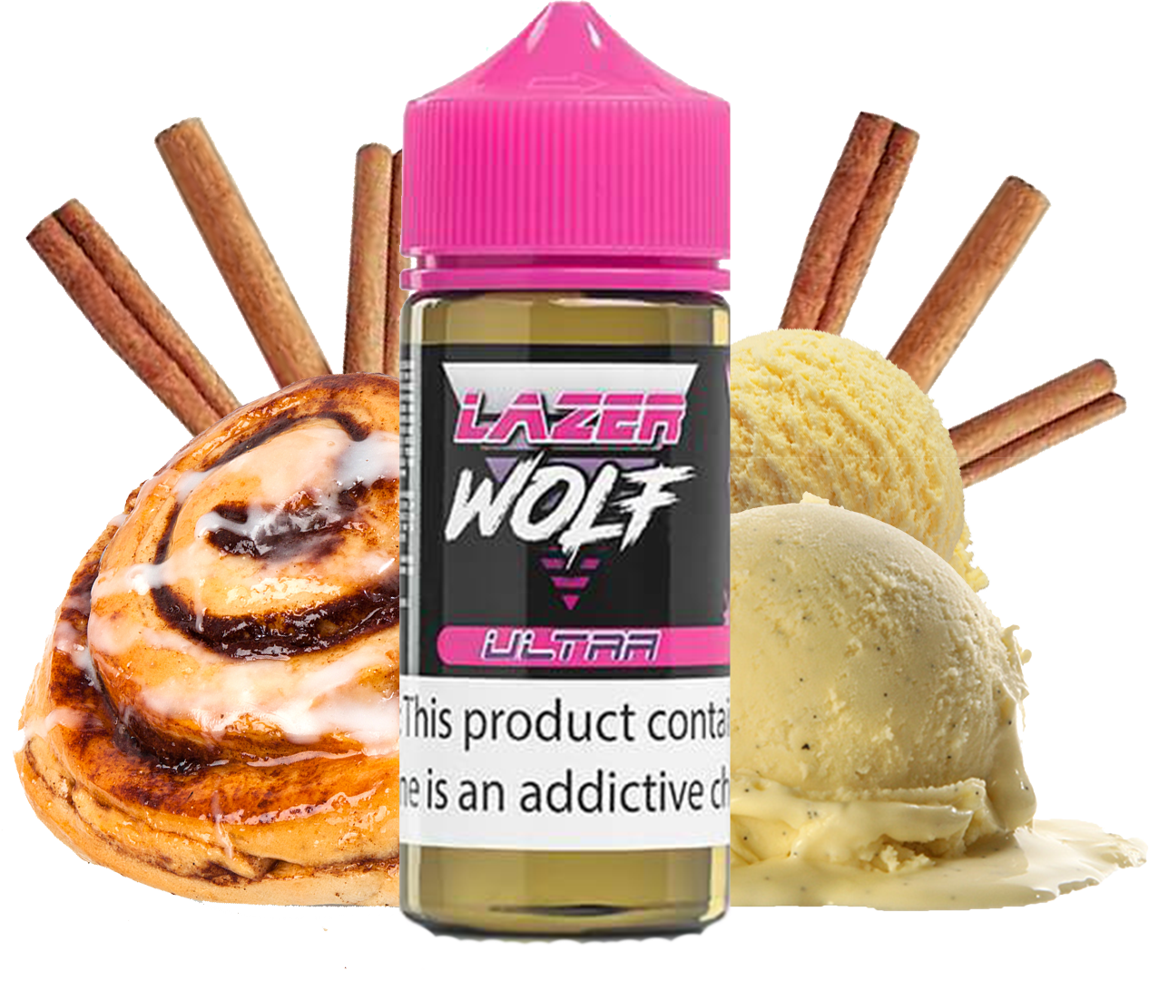 Lazer Wolf - Ultra - Sticky Buns Ice Cream 100ML Vape Juice