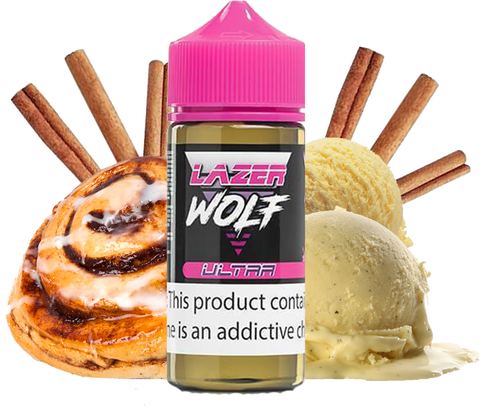 Lazer Wolf - Ultra - Sticky Buns Ice Cream - 100ML Vape Juice