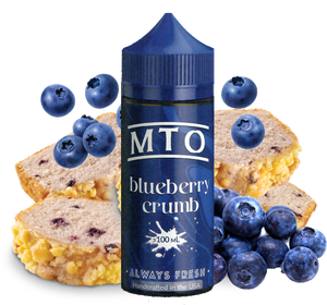 MTO - Blueberry Crumb - 100ML Vape Juice - Blueberry Crumble Cake