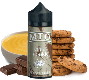 MTO - Crazy Cookie - 100ML Vape Juice - Chocolate Chip Cookie with Vanilla Custard