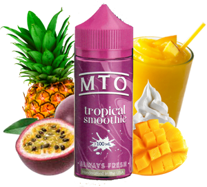 MTO - Tropical Smoothie - 100ML Vape Juice - Passion Fruit Pineapple Tropical Fruit Smoothie Plastic Bottle