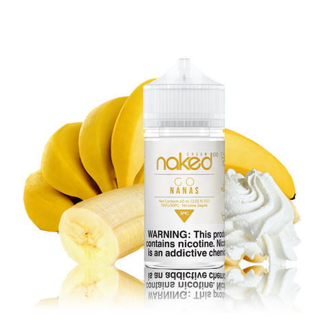 Naked 100 - Go Nanas - 60ml Vape Juice - Cloud City Vapes NC