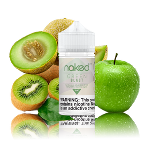 Naked 100 - Green Blast - 60ml Vape Juice - Cloud City Vapes NC