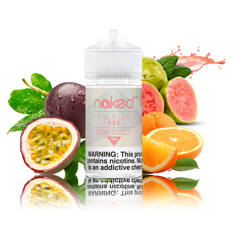 Naked 100 - Hawaiian Pog - 60ml Vape Juice - Cloud City Vapes NC