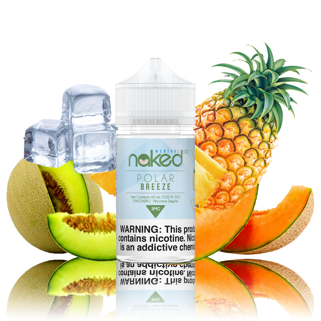Naked 100 - Polar Breeze - 60ML Vape Juice - Cloud City Vapes NC