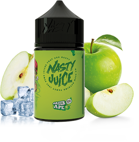 Nasty Juice - Green Ape - 60ML Vape Juice - Green Apple Menthol Flavor