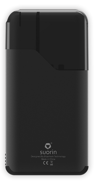Suorin - Air Plus - Pod System - One black Suorin Air Plus presented vertically facing forward.