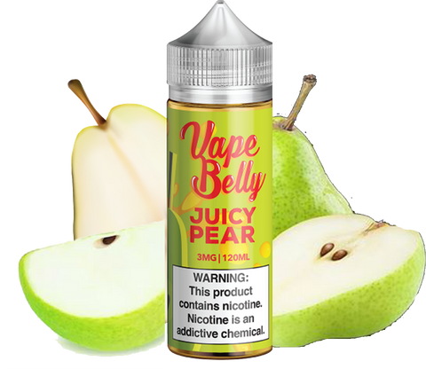 Vape Belly - Juicy Pear - 120ML Vape Juice