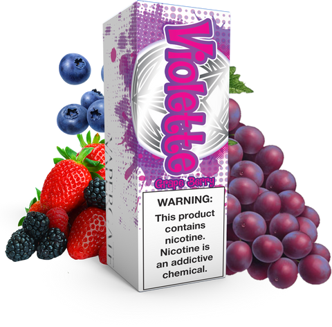Vapergate - Violette - 120ML Vape Juice - Grape Mixed Berry Plastic Bottle