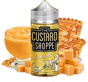 The Custard Shoppe - Butterscotch - 100ML Vape Juice - Butterscotch Custard Pie Flavor