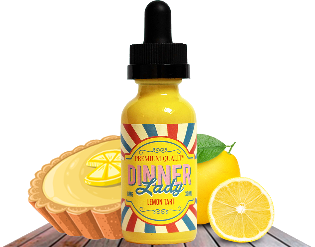 Dinner Lady - Lemon Tart - 60ML Vape Juice - Cloud City Vapes NC