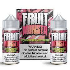 Fruit Monsta - Strawberry Nectarine - 2 X 100ML Vape Juice - Cloud City Vapes NC