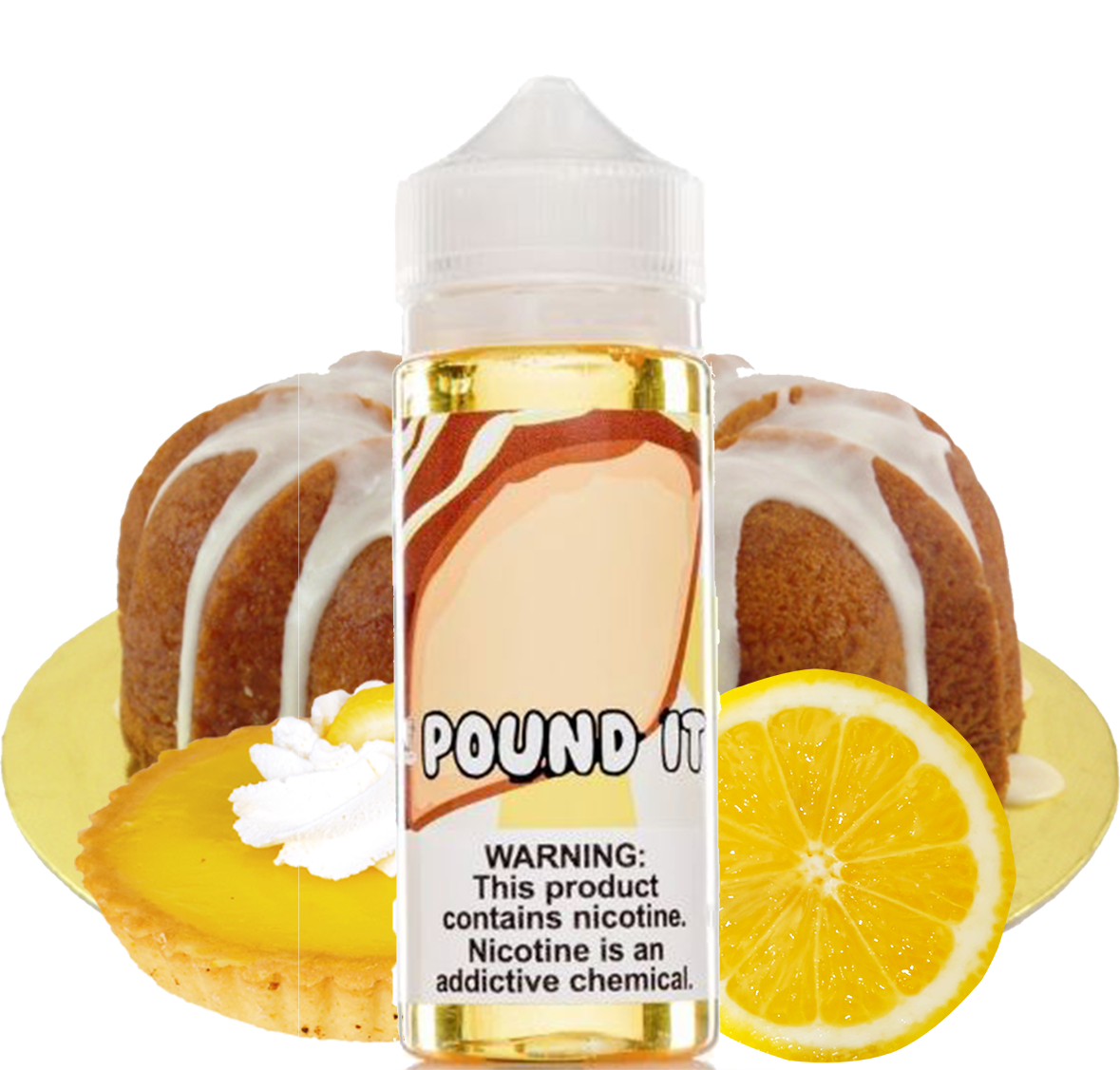 Food Fighter - Pound It - 120ML Vape Juice - Lemon Frosting Cake