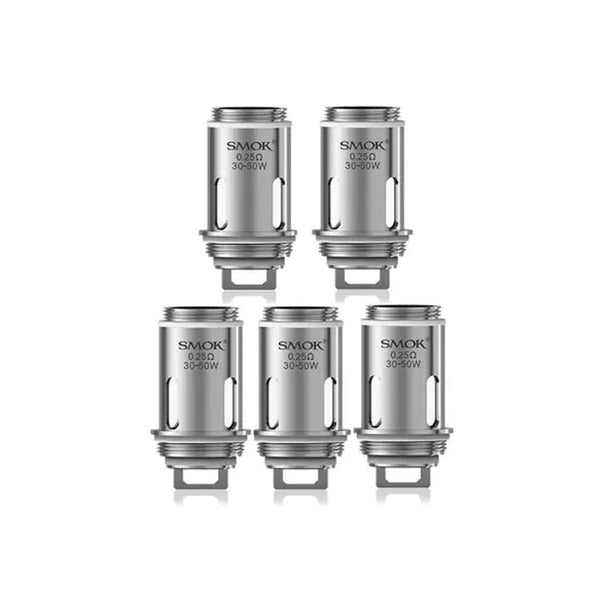 Smok Vape Pen 22 0.25 Replacement Coils, 5 shown in one row of 3 and one of 2.