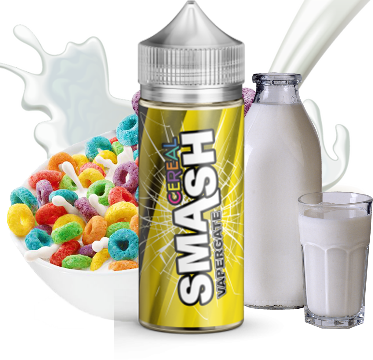 Vapergate - Smash - Cereal - 100ML Vape Juice - Fruity Cereal With Milk Plastic Bottle